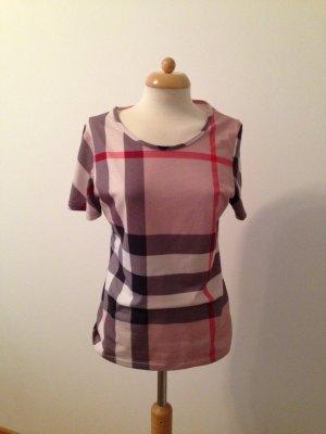 Check Cuff Stretch Cotton T-Shirt Gr.L/M