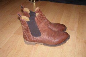 Chelsea Ankle Boots Reptilien-Optik