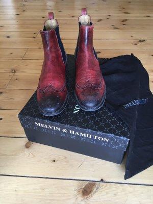 Chelsea Boot  Melvin & Hamilton Amelie  Kalbsleder Stiefelette Lederstiefel
