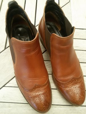 Paul Green Chelsea laarzen cognac-zwart