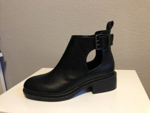 Zara Chelsea Boots black-silver-colored