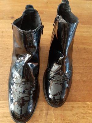 Chelsea Boots 42 Kiomi schwarz Lackleder