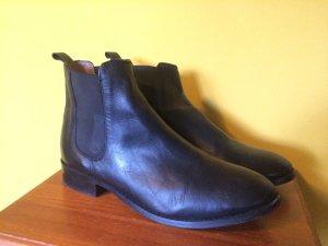 Chelsea Boots 42 schwarz Leder wenig getragen TOP ankle Another A