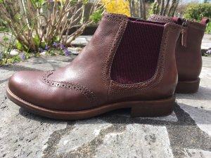 Tamaris Chelsea Boot marron clair cuir