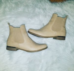 Chelsea Boots Biker Stiefeletten Stiefel 38 beige blogger hipster boho nude TOP