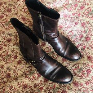 Borceguíes marrón-marrón oscuro