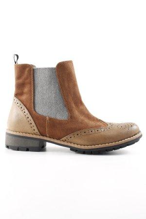 Chelsea Boot brun-gris clair style classique