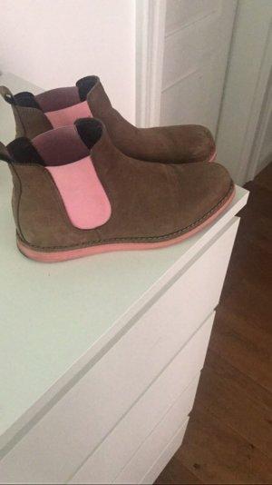 Chelsea boots Braun/ Rosa
