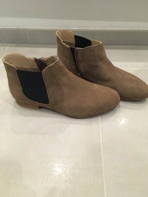 Chelsea Boots braun Wildleder blau 38 Mark adam Schuhe Blogger Fashion