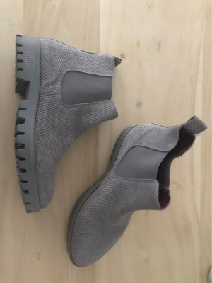 Shoot Chelsea Boots grey leather