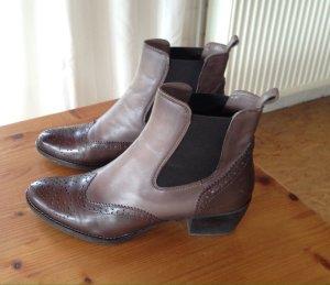 Chelsea-Boots Echtlederschuh Lederschuh Boots Größe 41 wie NEU Mark Adam New York