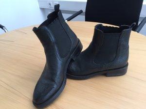 Chelsea Boots, Gr. 35, schwarz, Echtleder