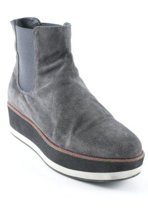 Chelsea Boot gris-noir style mode des rues