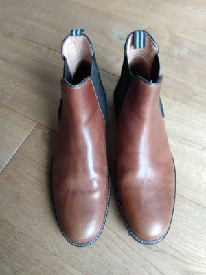 Chelsea Boots brown-dark brown leather
