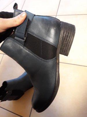 Cox Chelsea Boot bleu pétrole cuir