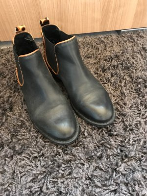 Chelsea Boots Leder Animal Fell