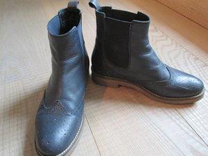 Chelsea laarzen donkerblauw Leer