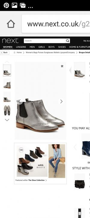 Chelsea Boots next silber, Gr. 38