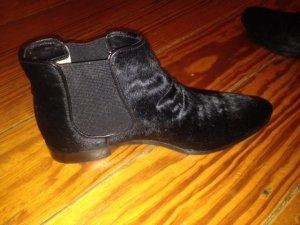 Chelsea Boots, schwarz, Fell, Gr 37.5 (D)