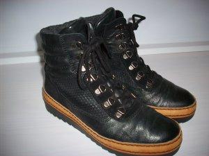 Gabor Botines Chelsea negro-marrón