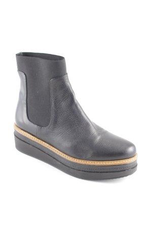 Chelsea Boot noir Aspect de combinaison de matériaux