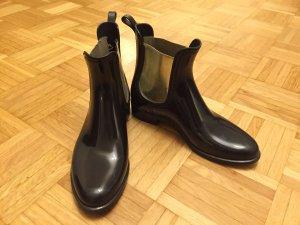 Chelsea Boots schwarz mit Gold