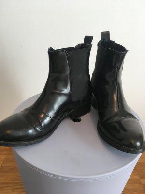 Chelsea Boots Selected Femme schwarz Lack Gr.38