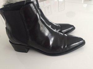 Chelsea Boots, Selected,Lackleder,schwarz,fast neu