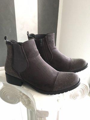 Chelsea Boots/ Stiefelette mit Strass Gr. 40
