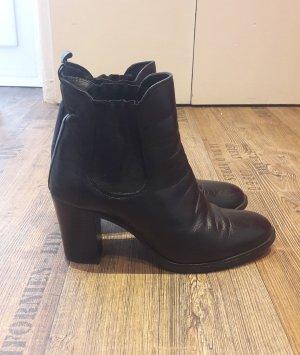 Chelsea Boots Stiefeletten Schwarz Gr. 39