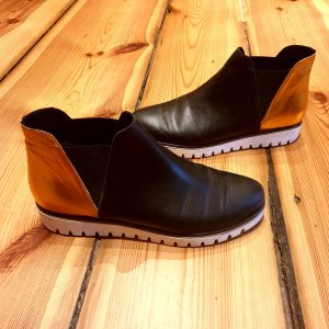 adddress Chelsea Boots black-russet leather
