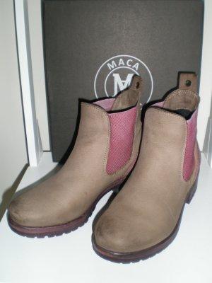 Chelsea Boots von MACA KITZBÜHEL Gr. 39 in taupe-bordeaux