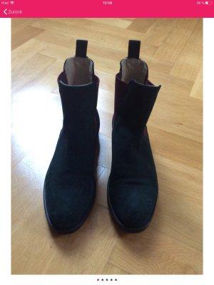 Scarosso Chelsea laarzen donkergroen-bordeaux