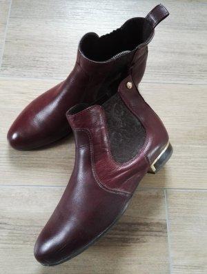 Chelsea-boots / weinrot / bordeaux / Gr. 39