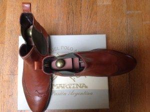 La Martina Stivaletto slip-on cognac-grigio-verde Pelle