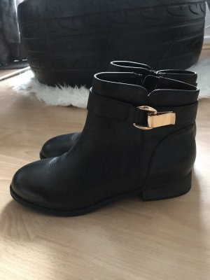 Buffalo Chelsea Boots black-gold-colored