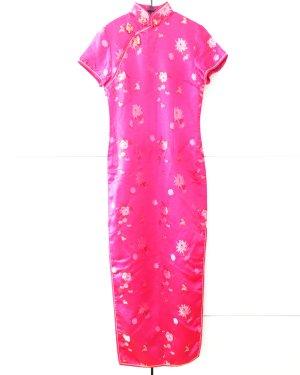 cheongsam / china dress / pink / satin