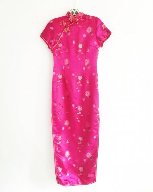 cheongsam / china dress / pink / satinkleid / vintage / asia fashion