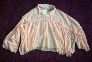 Cherry Transparent Blouse light pink textile fiber