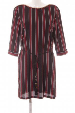 Cherry Longsleeve Dress striped pattern Paris-Look