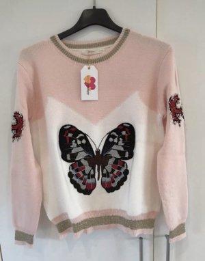 Cherry Old School Pullover Oberteil Pulli Shirt Girly Butterfly Nieten M/L