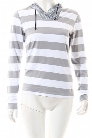 Chervo Hooded Shirt white-light grey striped pattern athletic style