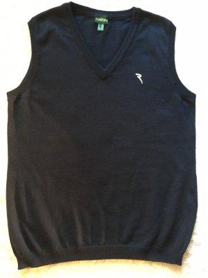 Chervo Cardigan en maille fine bleu foncé