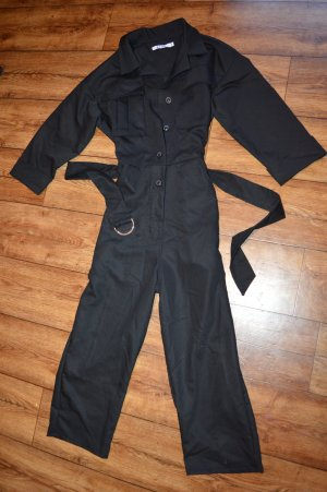 Chest Pocket Buttoned Jumpsuit Schwarz Neu 38 NA-KD
