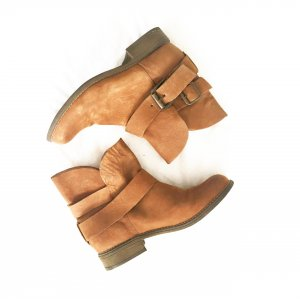 chestnutfarbene boots von steve madden