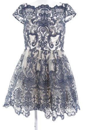 Chi Chi London Abendkleid dunkelblau-creme Elegant