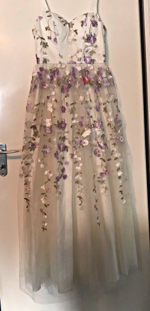 Chi Chi London Abendkleid Maxikleid Blumen Tüllkleid Ballkleid Hochzeitskleid Kleid Tüll