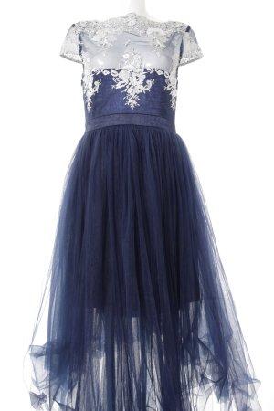 Chi Chi London Baljurk donkerblauw-zilver extravagante stijl