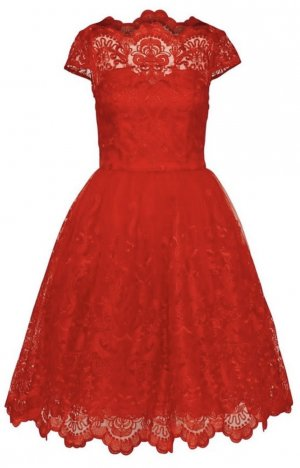 Chi Chi London Kleid Dione rot