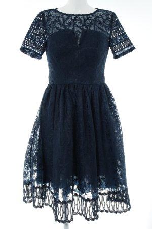 Chi Chi London Kanten jurk donkerblauw elegant
